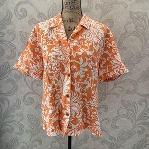Chico's size 3 (XL - 16) button down blouse linen
